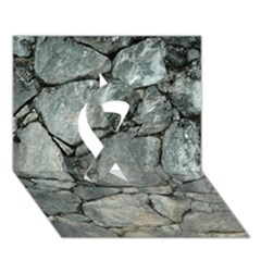 GREY STONE PILE Ribbon 3D Greeting Card (7x5)