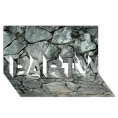 Grey Stone Pile Party 3d Greeting Card (8x4)