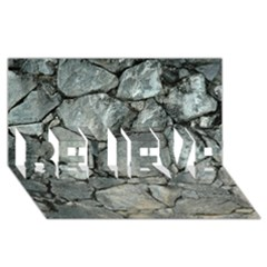 Grey Stone Pile Believe 3d Greeting Card (8x4)