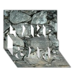 GREY STONE PILE TAKE CARE 3D Greeting Card (7x5)