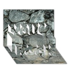 GREY STONE PILE You Rock 3D Greeting Card (7x5)