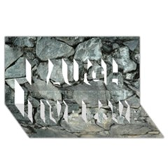 Grey Stone Pile Laugh Live Love 3d Greeting Card (8x4)