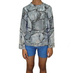 GREY STONE PILE Kid s Long Sleeve Swimwear