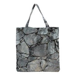 GREY STONE PILE Grocery Tote Bags