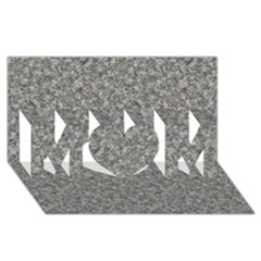 GREY MARBLE MOM 3D Greeting Card (8x4)