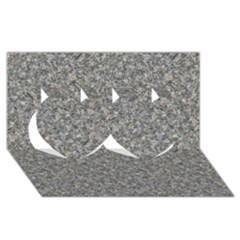 GREY MARBLE Twin Hearts 3D Greeting Card (8x4)