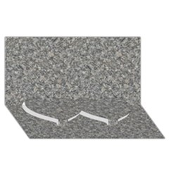 Grey Marble Twin Heart Bottom 3d Greeting Card (8x4)