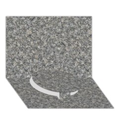Grey Marble Circle Bottom 3d Greeting Card (7x5)
