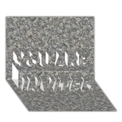 GREY MARBLE YOU ARE INVITED 3D Greeting Card (7x5)