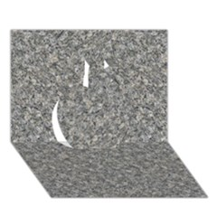 Grey Marble Apple 3d Greeting Card (7x5)