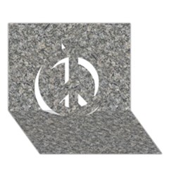 GREY MARBLE Peace Sign 3D Greeting Card (7x5)