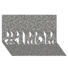 GREY MARBLE #1 MOM 3D Greeting Cards (8x4)