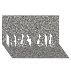 GREY MARBLE BEST SIS 3D Greeting Card (8x4)