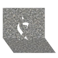 Grey Marble Ribbon 3d Greeting Card (7x5)