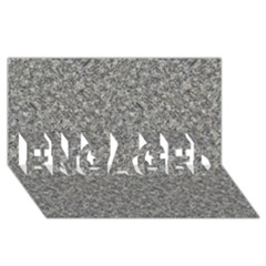 GREY MARBLE ENGAGED 3D Greeting Card (8x4)