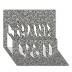 Grey Marble Thank You 3d Greeting Card (7x5)