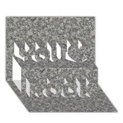 GREY MARBLE You Rock 3D Greeting Card (7x5)