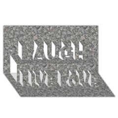 Grey Marble Laugh Live Love 3d Greeting Card (8x4)