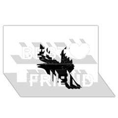 Crow Best Friends 3D Greeting Card (8x4)