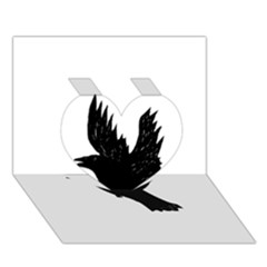 Crow Heart 3D Greeting Card (7x5)