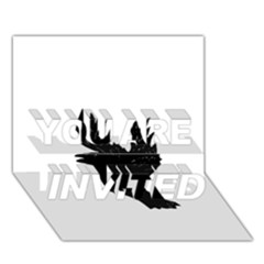 Crow YOU ARE INVITED 3D Greeting Card (7x5)