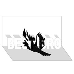 Crow BEST BRO 3D Greeting Card (8x4)