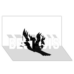 Crow BEST SIS 3D Greeting Card (8x4)