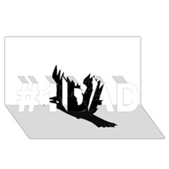 Crow #1 DAD 3D Greeting Card (8x4)