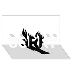 Crow SORRY 3D Greeting Card (8x4)