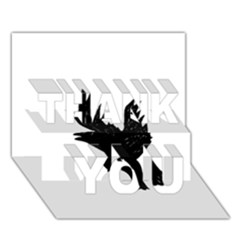 Crow Thank You 3d Greeting Card (7x5)