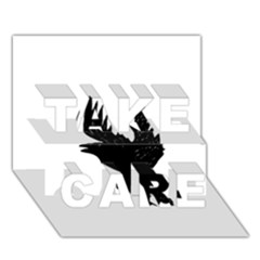 Crow TAKE CARE 3D Greeting Card (7x5)