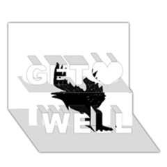 Crow Get Well 3D Greeting Card (7x5)