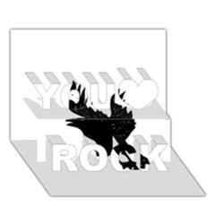 Crow You Rock 3D Greeting Card (7x5)