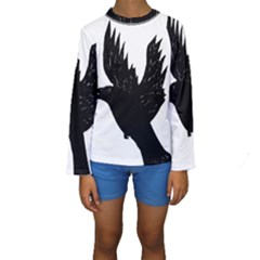 Crow Kid s Long Sleeve Swimwear
