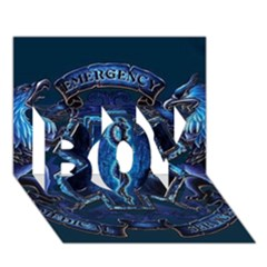 Ems Blue BOY 3D Greeting Card (7x5)