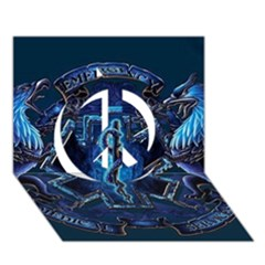Ems Blue Peace Sign 3D Greeting Card (7x5)