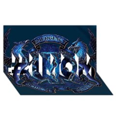 Ems Blue #1 Mom 3d Greeting Cards (8x4)