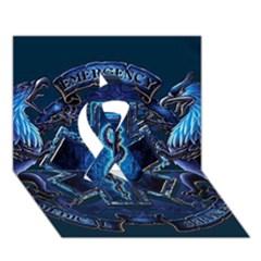 Ems Blue Ribbon 3D Greeting Card (7x5)