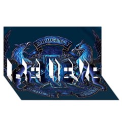Ems Blue Believe 3d Greeting Card (8x4)