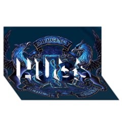 Ems Blue Hugs 3d Greeting Card (8x4)