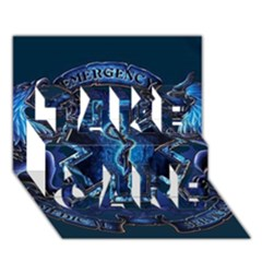 Ems Blue TAKE CARE 3D Greeting Card (7x5)