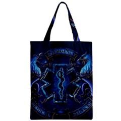 Ems Blue Zipper Classic Tote Bags