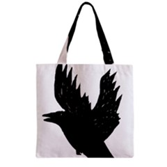 Hovering crow Grocery Tote Bags