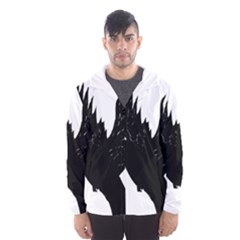 Hovering crow Hooded Wind Breaker (Men)