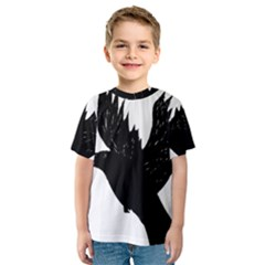 Hovering Crow Kid s Sport Mesh Tees