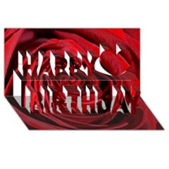 Beautifully Red Happy Birthday 3d Greeting Card (8x4)
