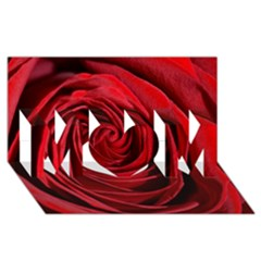 Beautifully Red MOM 3D Greeting Card (8x4)