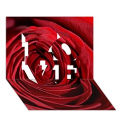Beautifully Red LOVE 3D Greeting Card (7x5)
