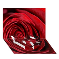 Beautifully Red LOVE Bottom 3D Greeting Card (7x5)