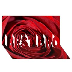 Beautifully Red Best Bro 3d Greeting Card (8x4)